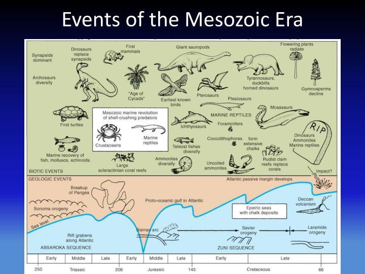 Events of the mesozoic era