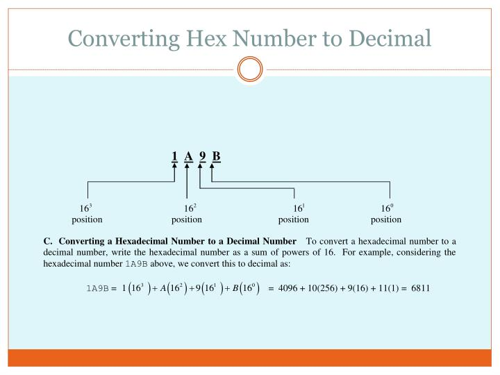 Converting Hex Number to Decimal