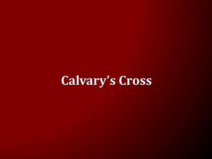 Calvary s cross