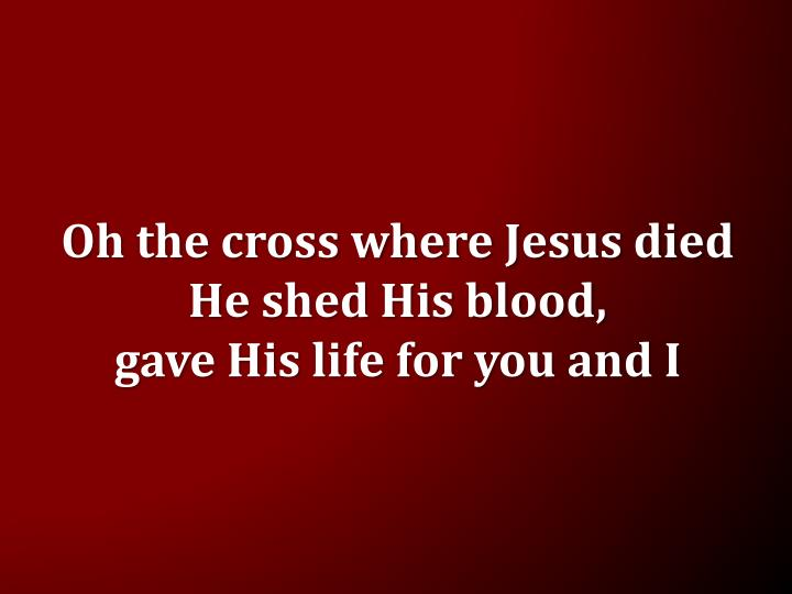 Oh the cross where Jesus died