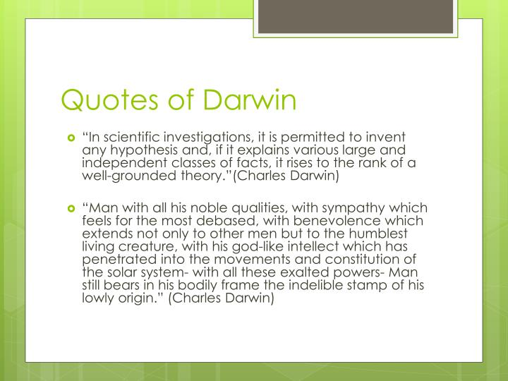 Quotes of Darwin