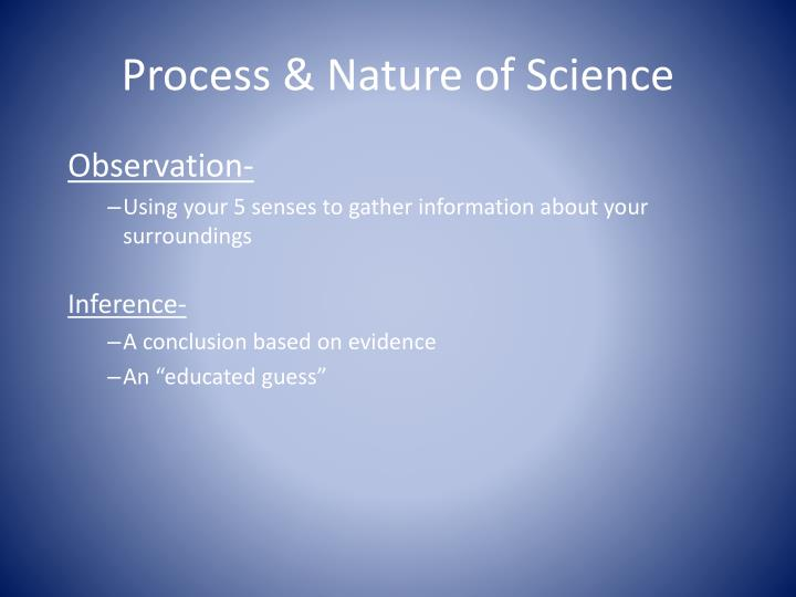 Process & Nature of Science