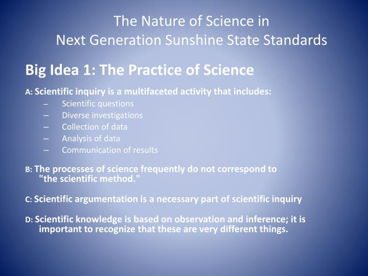 The Nature of Science in