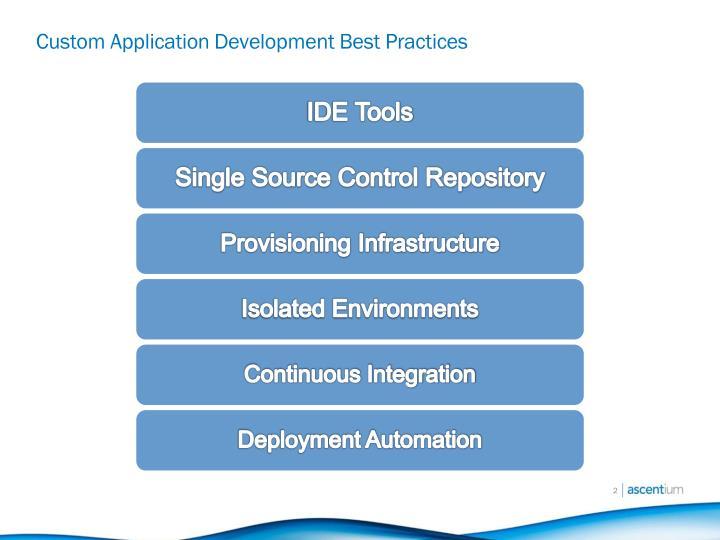 Custom application development best practices