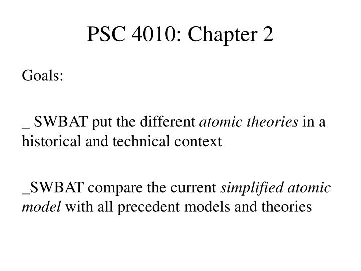 Psc 4010 chapter 2