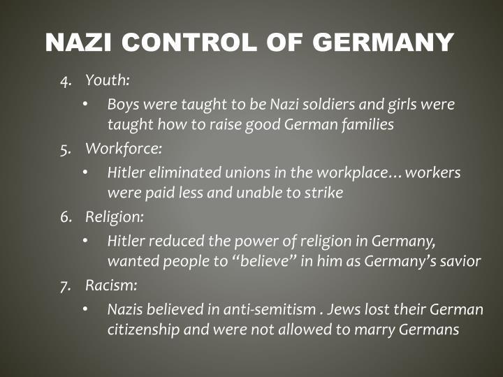 Nazi control of germany1