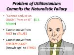 problem of utilitarianism commits the naturalistic fallacy