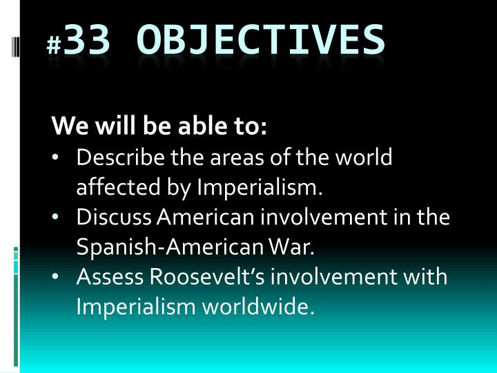 33 objectives