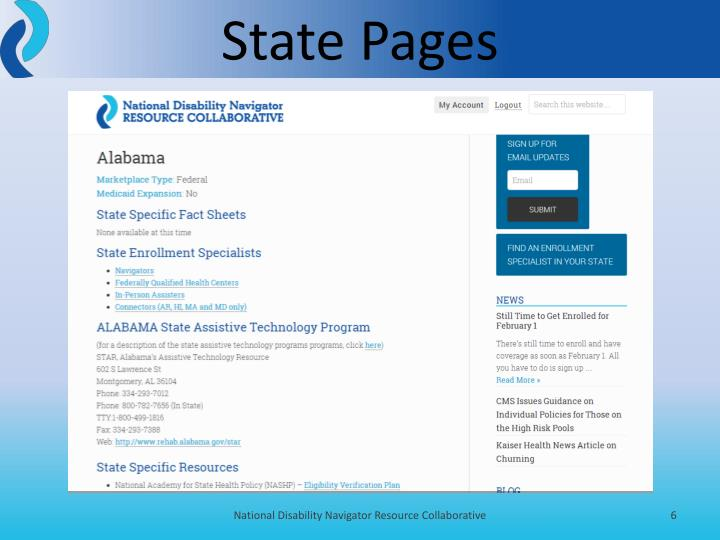 State Pages