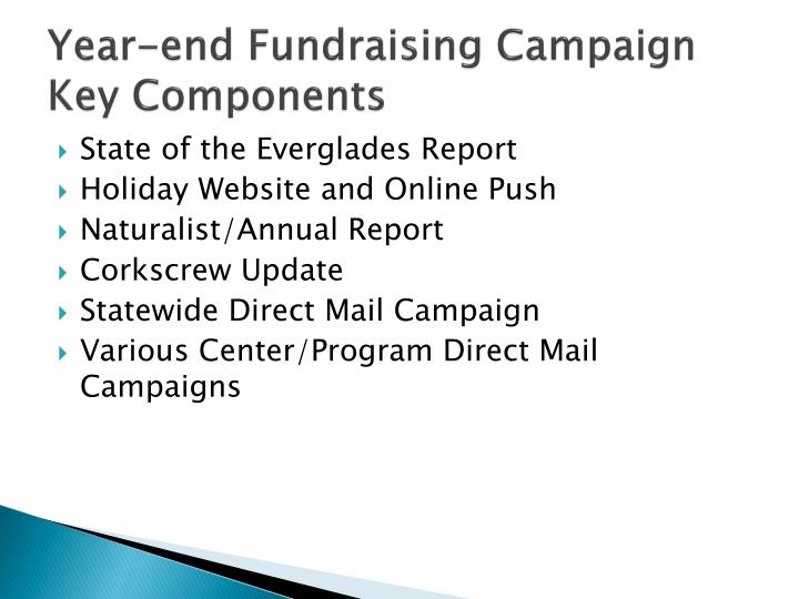 Year end fundraising campaign key components