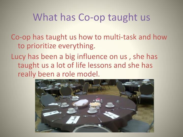 What has Co-op taught us