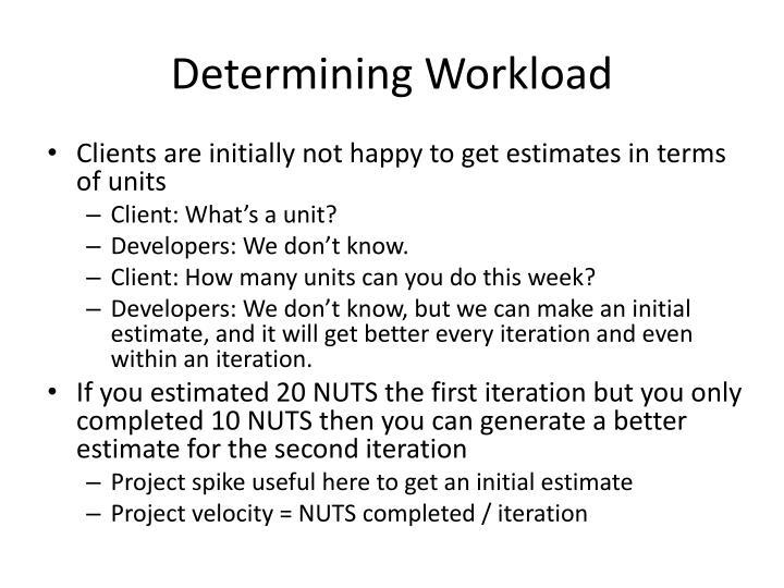 Determining Workload