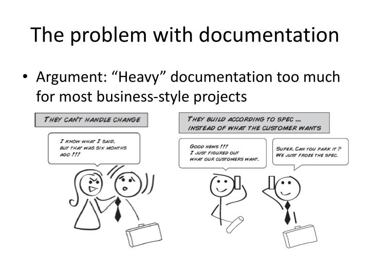 The problem with documentation