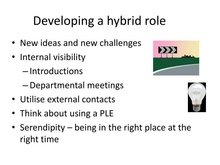 Developing a hybrid role