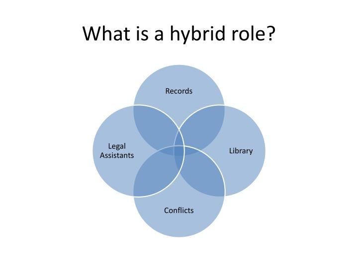 What is a hybrid role?