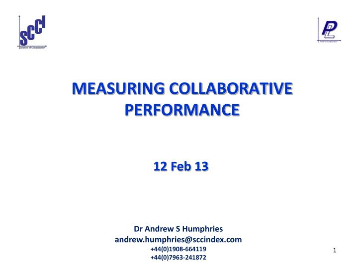 measuring collaborative performance