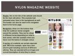 nylon magazine website
