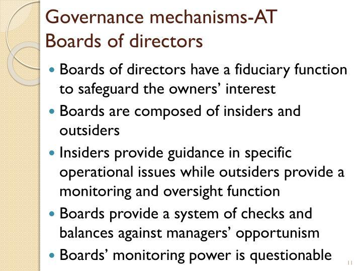Governance mechanisms-AT