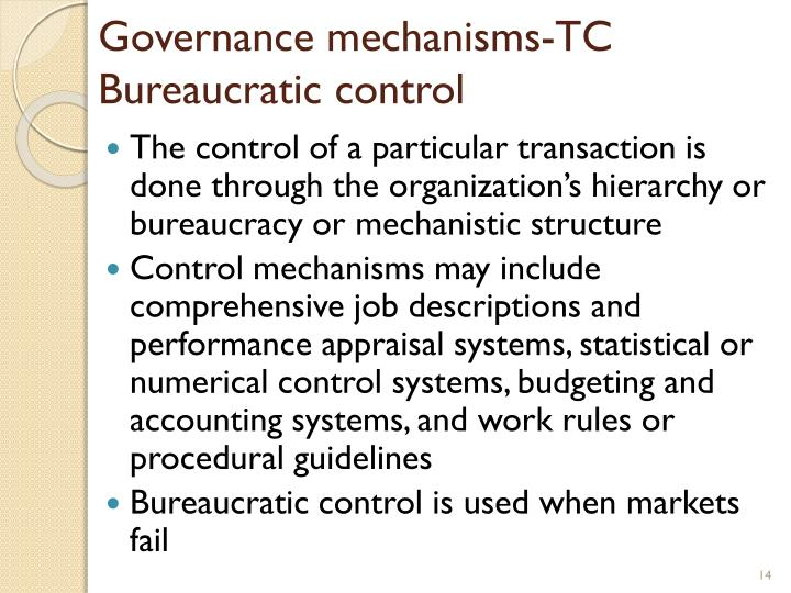 Governance mechanisms-TC