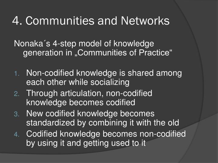 4. Communities
