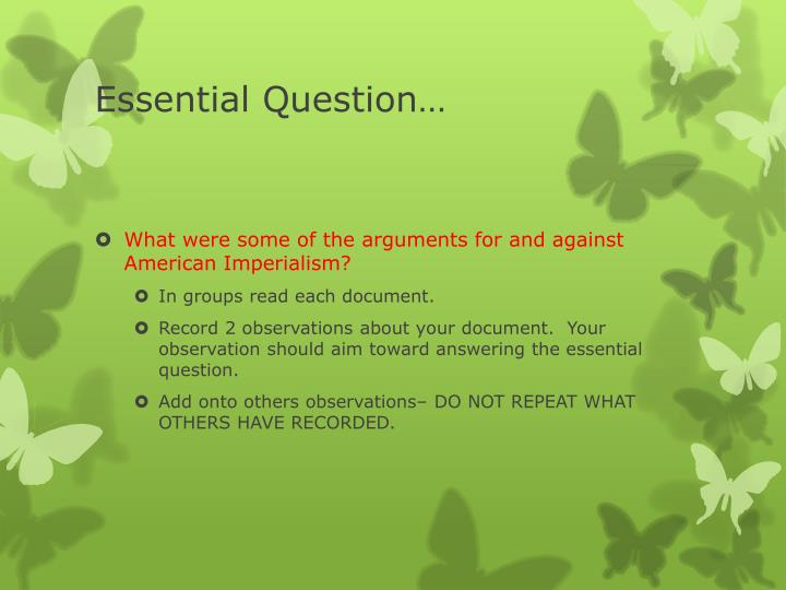 Essential Question…