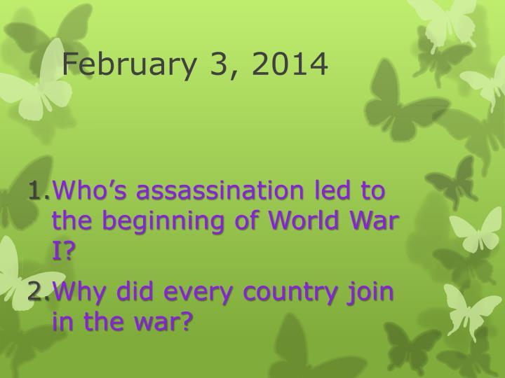 February 3, 2014