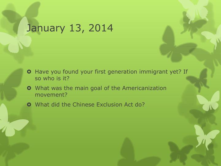 January 13, 2014