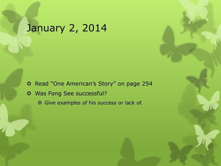 January 2, 2014