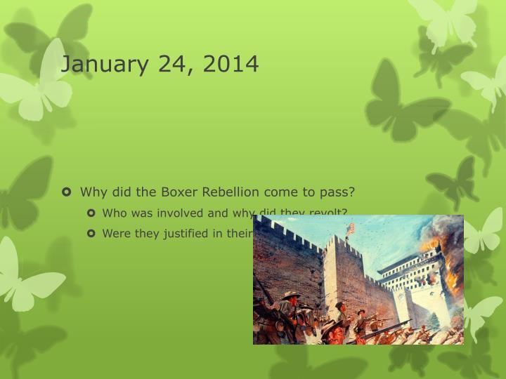 January 24, 2014