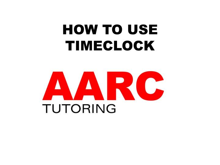 how to use timeclock