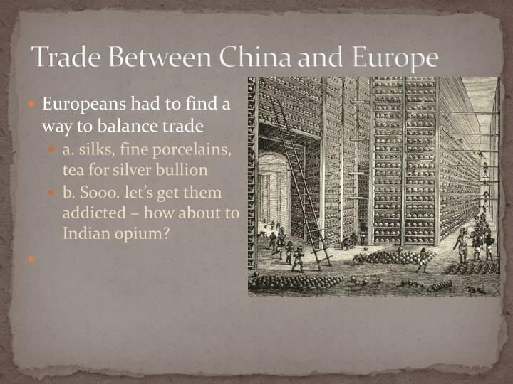 Trade between china and europe