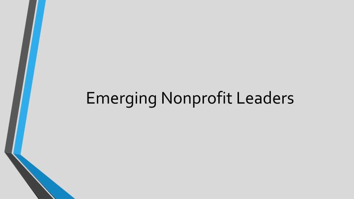 Emerging Nonprofit Leaders