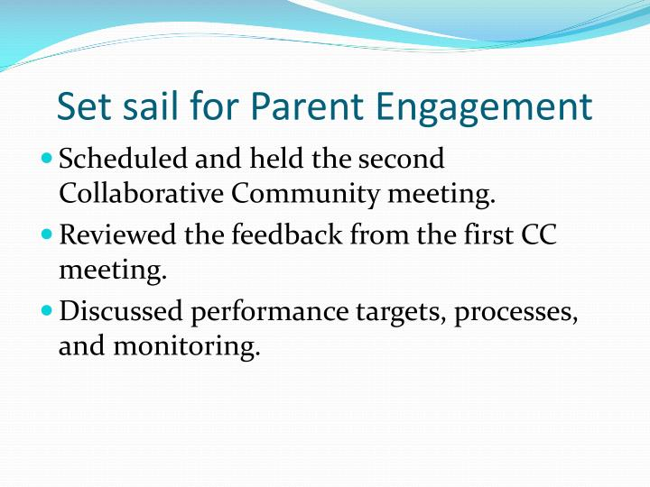 Set sail for Parent Engagement