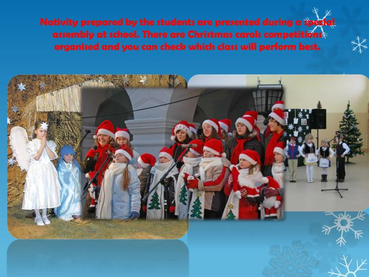 Nativity prepared by the students are presented