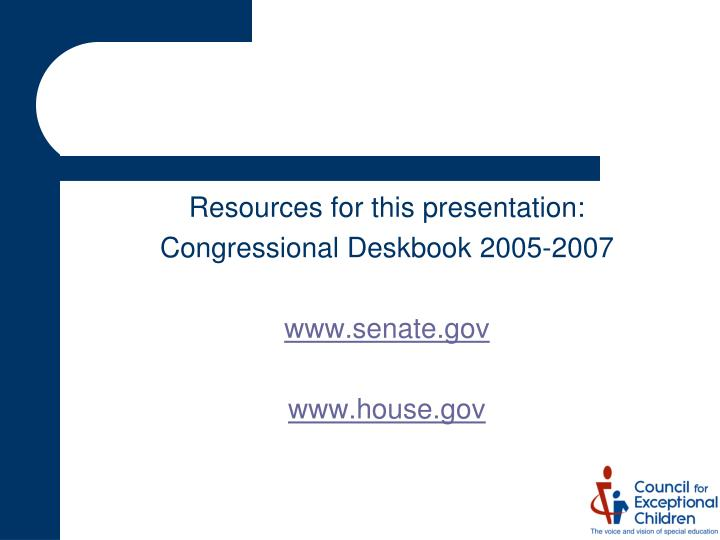 Resources for this presentation: