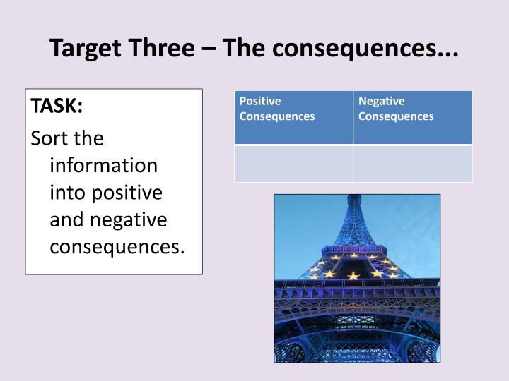 Target Three – The consequences...