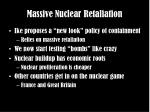 massive nuclear retaliation
