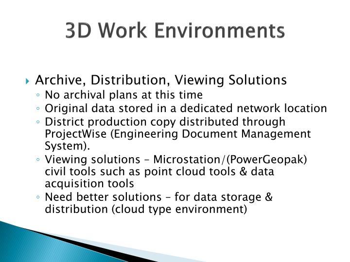 3D Work Environments