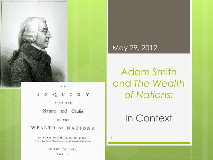 adam smith and the wealth of nations n.