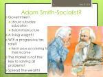 adam smith socialist