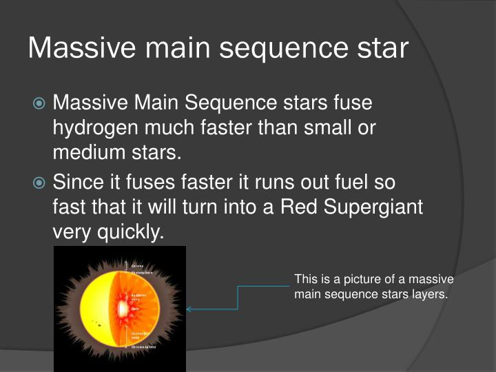 Massive main sequence star