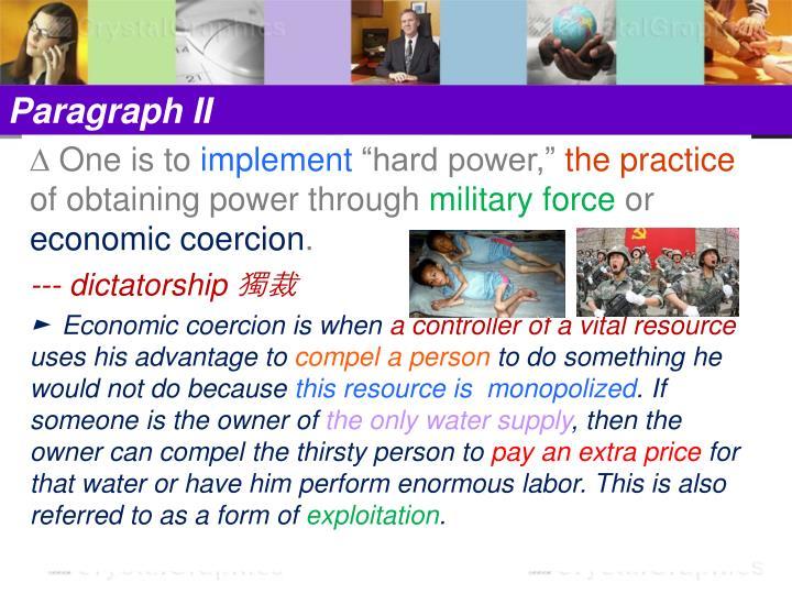 Paragraph II