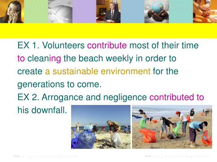 EX 1. Volunteers