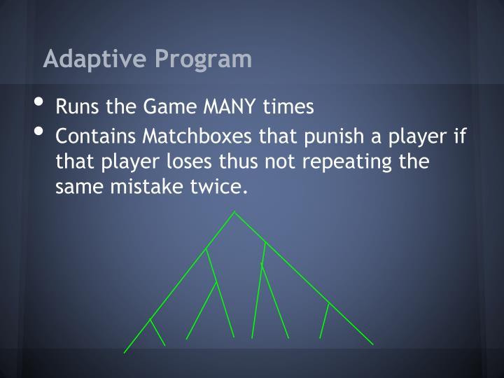 Adaptive Program