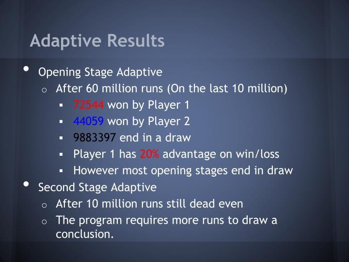 Adaptive Results