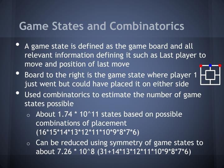 Game States and Combinatorics