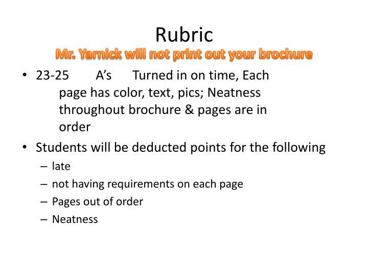 Rubric