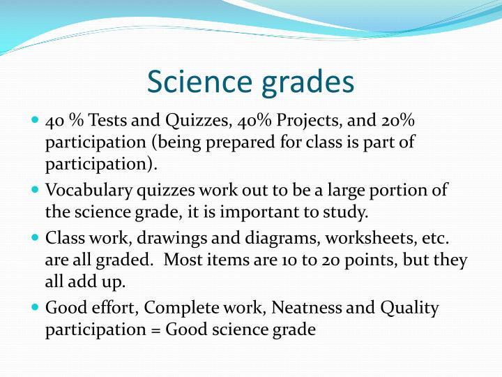 Science grades