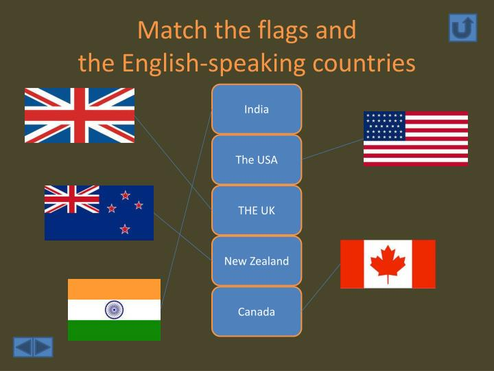 Match the flags and