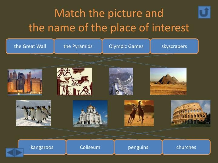 Match the picture and